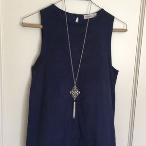 Navy ultra suede dress size small